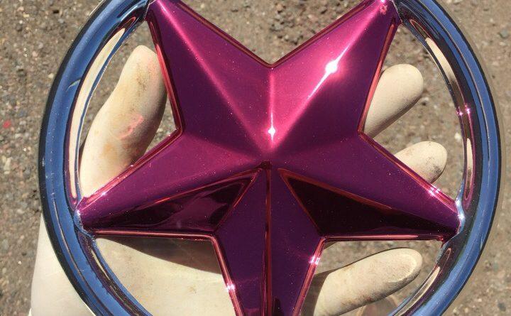 Хромирование декоративных элементов- звезда розовая