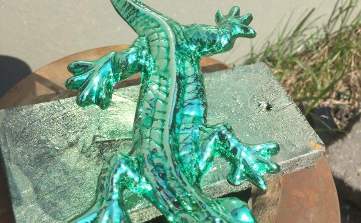 Хромирование фигур- ящерица зеленая