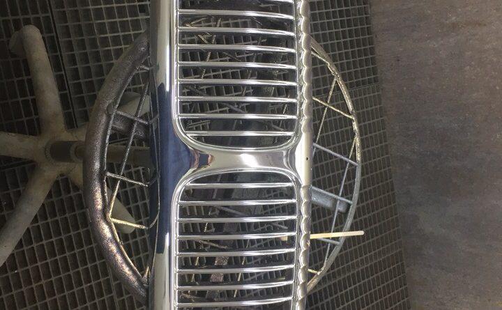 Хромирование деталей автомобиля - решетка