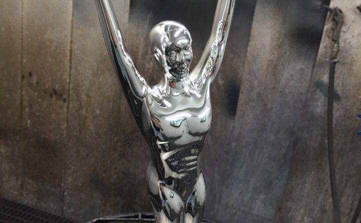 Хромирование статуэток- Статуэтка с 5 звездами