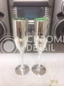 Хромирование бокалов для шампанского-2