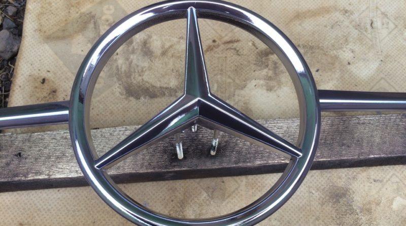 Хромирование автомобильных деталей - эмблема Мерседес 2