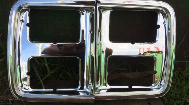 Хромирование рамки для решетки радиатора