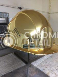 Хромирование металлической каски-6