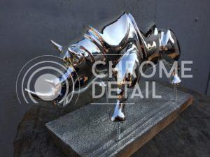 Хромирование фигур- носорог серебряный