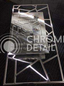Хромирование металлической таблички