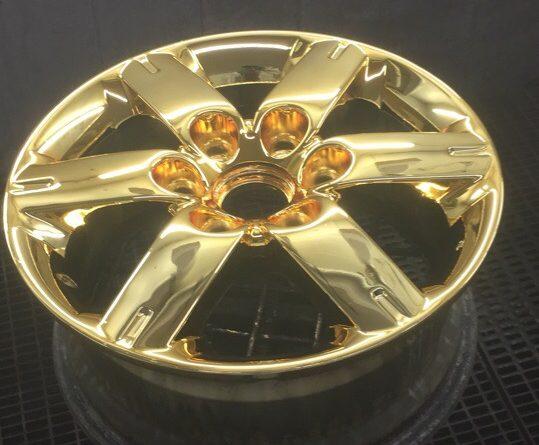 Хромирование автомобильных дисков - серебро/золото