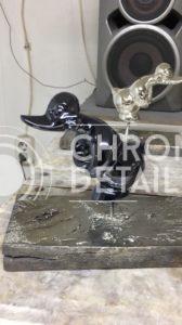 Хромирование металлической фигуры - Утка