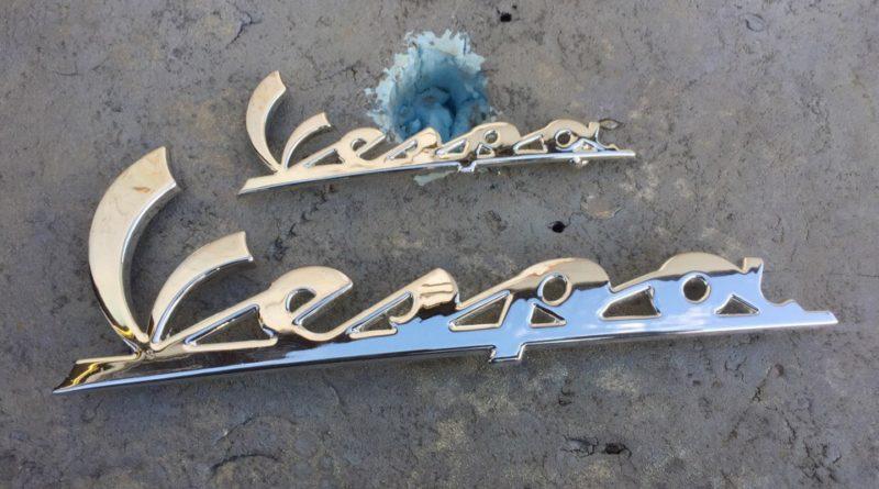 Хромирование металлической надписи