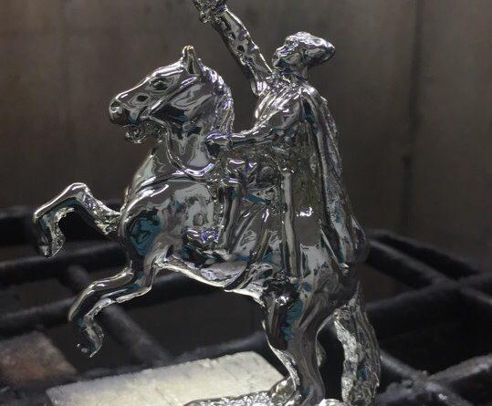 Хромирование статуэтки - Рыцарь на коне