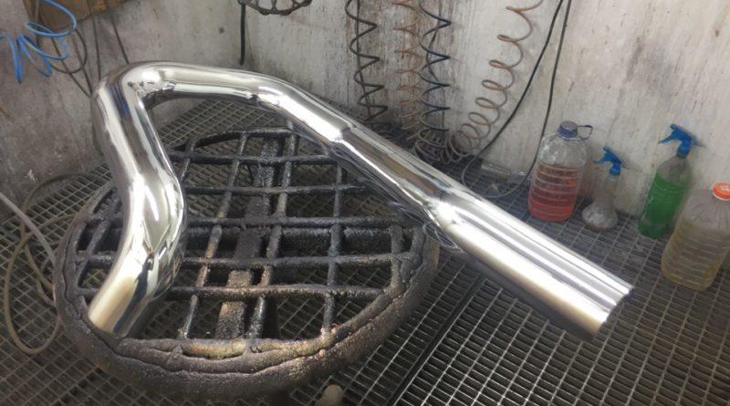 Хромирование деталей автомобиля - труба выхлопной системы