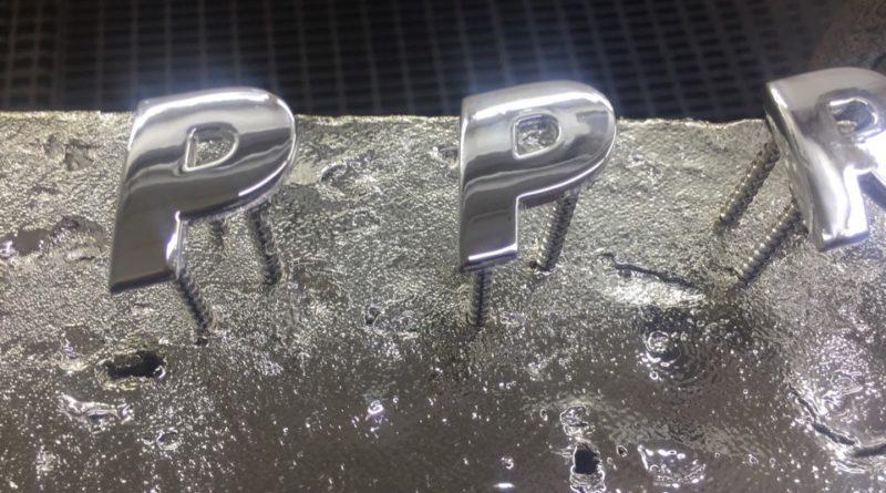 Хромирование металлических букв