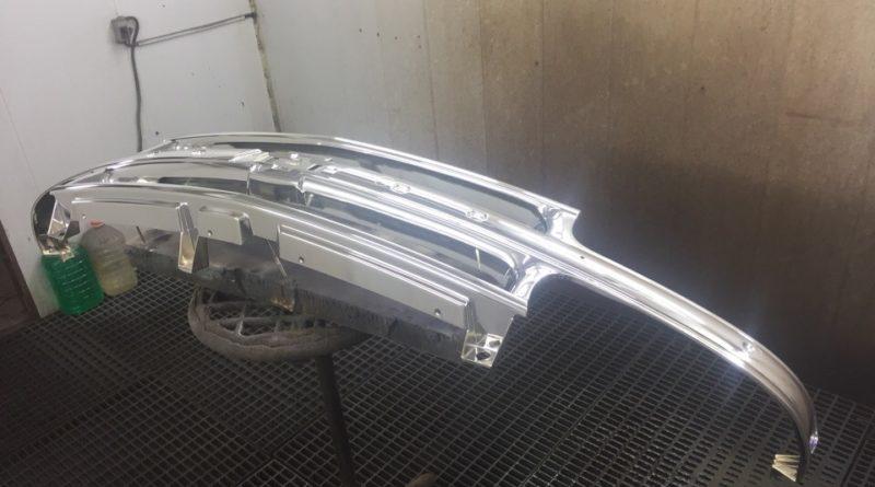 Хромирование деталей автомобиля - решетка бампера с логотипом Шевроле