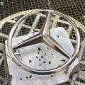 Хромирование деталей автомобиля - эмблема Мерседес 2
